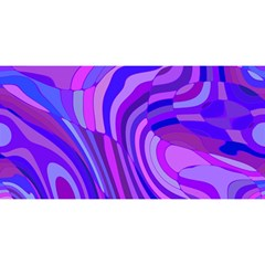 Retro Abstract Blue Pink You Are Invited 3d Greeting Card (8x4)