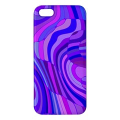 Retro Abstract Blue Pink Apple Iphone 5 Premium Hardshell Case by ImpressiveMoments