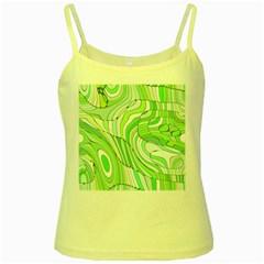 Retro Abstract Green Yellow Spaghetti Tanks by ImpressiveMoments