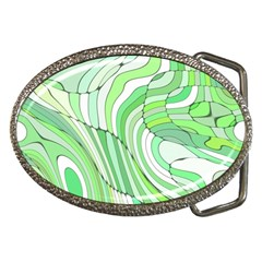 Retro Abstract Green Belt Buckles by ImpressiveMoments