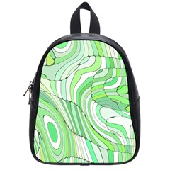 Retro Abstract Green School Bags (small)  by ImpressiveMoments