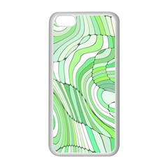 Retro Abstract Green Apple Iphone 5c Seamless Case (white) by ImpressiveMoments