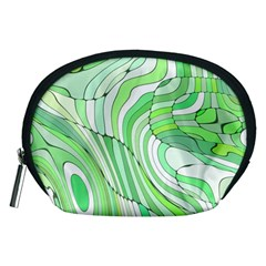 Retro Abstract Green Accessory Pouches (medium)  by ImpressiveMoments