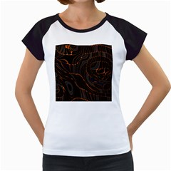 Retro Abstract Orange Black Women s Cap Sleeve T by ImpressiveMoments
