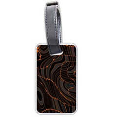 Retro Abstract Orange Black Luggage Tags (two Sides) by ImpressiveMoments