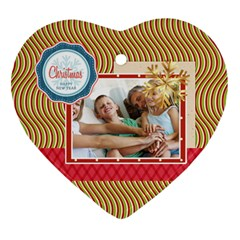 Xmas By Joy   Heart Ornament (two Sides)   O0de0rwfucud   Www Artscow Com Front