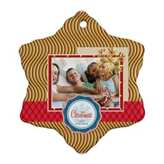 Xmas By Joy   Snowflake Ornament (two Sides)   Hzob4yd6y8m2   Www Artscow Com Back