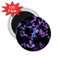 Splatter Blue Pink 2 25  Magnets (100 Pack)  by MoreColorsinLife
