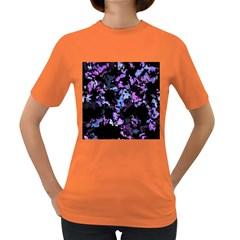 Splatter Blue Pink Women s Dark T Shirt by MoreColorsinLife
