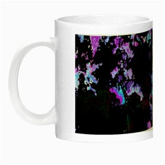 Splatter Blue Pink Night Luminous Mugs by MoreColorsinLife