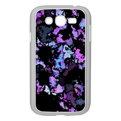 Splatter Blue Pink Samsung Galaxy Grand Duos I9082 Case (white) by MoreColorsinLife