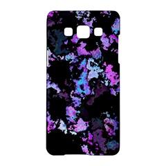 Splatter Blue Pink Samsung Galaxy A5 Hardshell Case  by MoreColorsinLife