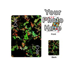 Splatter Red Green Playing Cards 54 (Mini)  by MoreColorsinLife