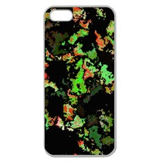 Splatter Red Green Apple Seamless Iphone 5 Case (clear) by MoreColorsinLife