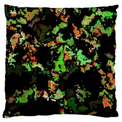 Splatter Red Green Standard Flano Cushion Cases (one Side)  by MoreColorsinLife