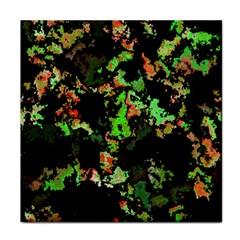 Splatter Red Green Tile Coasters by MoreColorsinLife