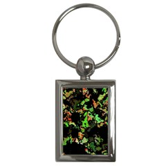 Splatter Red Green Key Chains (rectangle)  by MoreColorsinLife