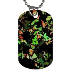 Splatter Red Green Dog Tag (two Sides) by MoreColorsinLife