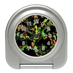 Splatter Red Green Travel Alarm Clocks by MoreColorsinLife