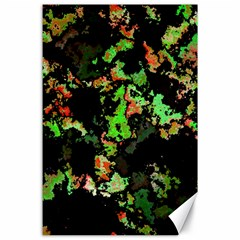 Splatter Red Green Canvas 24  X 36  by MoreColorsinLife