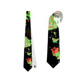Splatter Red Green Neckties (two Side)  by MoreColorsinLife