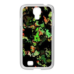 Splatter Red Green Samsung Galaxy S4 I9500/ I9505 Case (white) by MoreColorsinLife