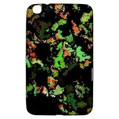 Splatter Red Green Samsung Galaxy Tab 3 (8 ) T3100 Hardshell Case  by MoreColorsinLife