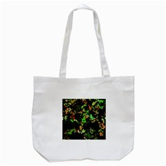 Splatter Red Green Tote Bag (white)  by MoreColorsinLife