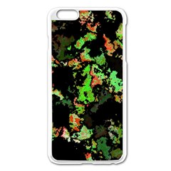 Splatter Red Green Apple Iphone 6 Plus/6s Plus Enamel White Case by MoreColorsinLife