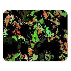 Splatter Red Green Double Sided Flano Blanket (large)  by MoreColorsinLife