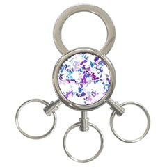 Splatter White Lilac 3 Ring Key Chains by MoreColorsinLife