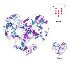 Splatter White Lilac Playing Cards (heart)  by MoreColorsinLife