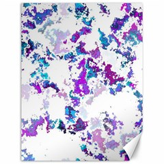Splatter White Lilac Canvas 12  X 16   by MoreColorsinLife