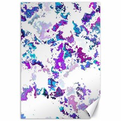 Splatter White Lilac Canvas 12  X 18   by MoreColorsinLife