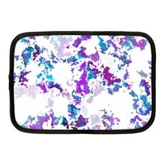 Splatter White Lilac Netbook Case (medium)  by MoreColorsinLife