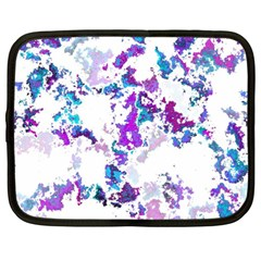 Splatter White Lilac Netbook Case (large)	 by MoreColorsinLife