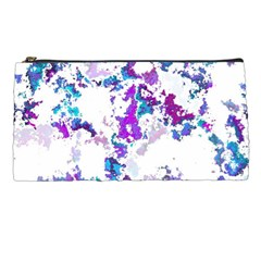 Splatter White Lilac Pencil Cases by MoreColorsinLife