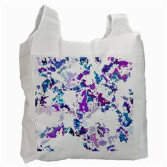 Splatter White Lilac Recycle Bag (one Side) by MoreColorsinLife
