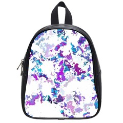 Splatter White Lilac School Bags (small)  by MoreColorsinLife