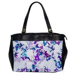 Splatter White Lilac Office Handbags by MoreColorsinLife