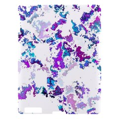 Splatter White Lilac Apple Ipad 3/4 Hardshell Case by MoreColorsinLife