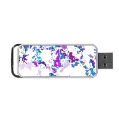 Splatter White Lilac Portable Usb Flash (one Side) by MoreColorsinLife