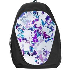 Splatter White Lilac Backpack Bag by MoreColorsinLife