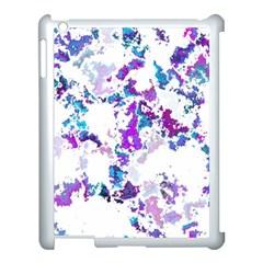 Splatter White Lilac Apple iPad 3/4 Case (White)