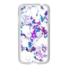 Splatter White Lilac Samsung Galaxy S4 I9500/ I9505 Case (white) by MoreColorsinLife
