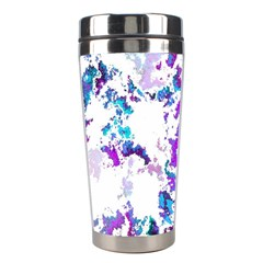 Splatter White Lilac Stainless Steel Travel Tumblers by MoreColorsinLife