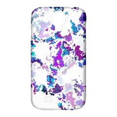 Splatter White Lilac Samsung Galaxy S4 Classic Hardshell Case (pc+silicone) by MoreColorsinLife