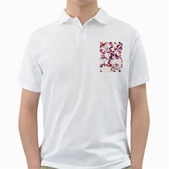 Splatter White Golf Shirts by MoreColorsinLife