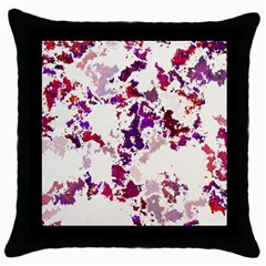 Splatter White Throw Pillow Cases (black) by MoreColorsinLife