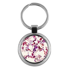 Splatter White Key Chains (round)  by MoreColorsinLife